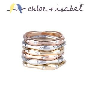 Tri-Tone 6 Stackable Rings - Chloe + Isabel